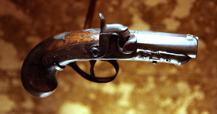 John Wilkes Booth derringer used to kill Abraham Lincoln