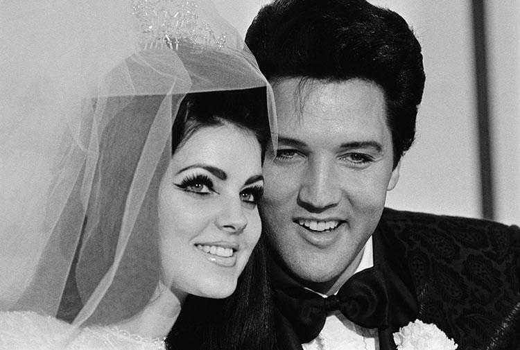 Elvis Presley с женой