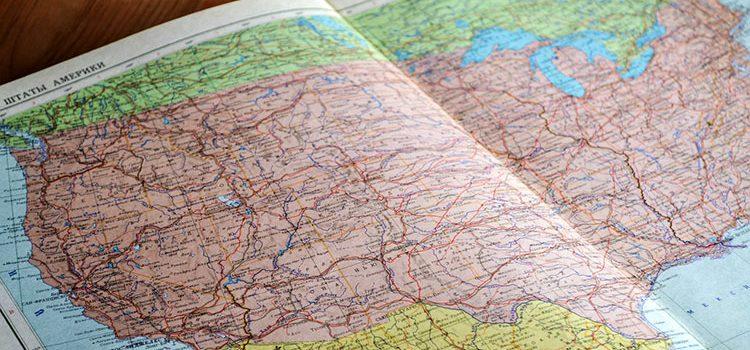 Где находится США на карте мира