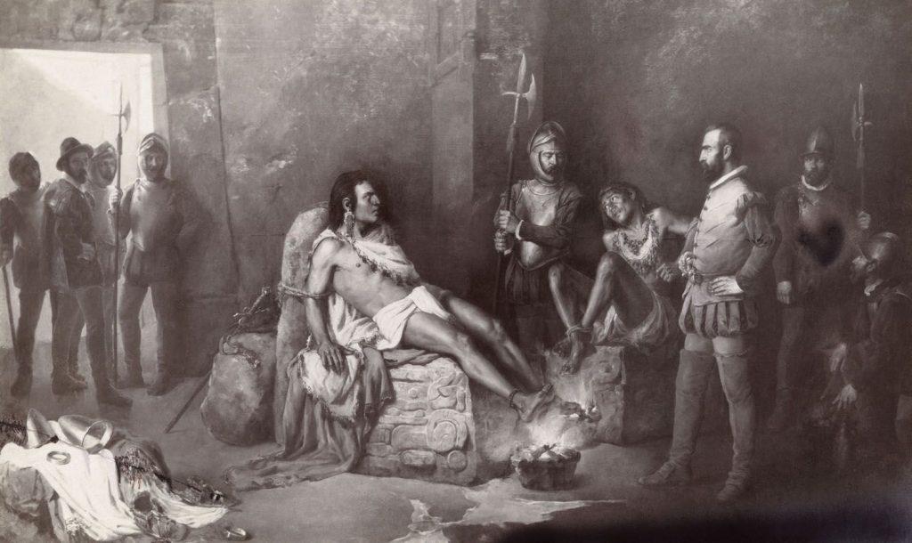 Пленение императора Куаутемока солдатами Эрнана Кортеса